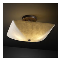 Clouds 2 Light 14 inch Dark Bronze Semi-Flush Bowl Ceiling Light