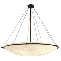 Justice Design CLD-9697-35-DBRZ Clouds 8 Light Dark Bronze Pendant Bowl Ceiling Light photo thumbnail
