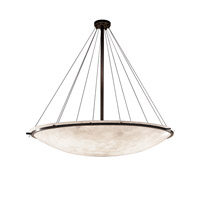Justice Design Group Clouds LED Semi-Flush Bowl with Ring in Dark Bronze CLD-9698-35-DBRZ-LED12-12000