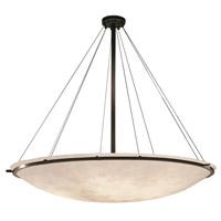 Justice Design CLD-9699-35-DBRZ-LED9-9000 Clouds LED 63 inch Dark Bronze Pendant Ceiling Light Bowl