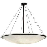 Justice Design CLD-9699-35-DBRZ Clouds 9 Light 63 inch Dark Bronze Pendant Ceiling Light Bowl