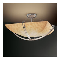 Clouds 6 Light 28 inch Brushed Nickel Semi-Flush Bowl Ceiling Light in Square Bowl