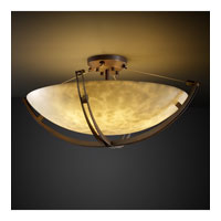 Clouds 6 Light Dark Bronze Semi-Flush Bowl Ceiling Light in Round Bowl