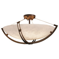 Justice Design CLD-9714-35-DBRZ Clouds 6 Light 42 inch Dark Bronze Semi-Flush Ceiling Light in Round Bowl Incandescent Bowl