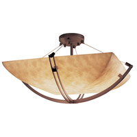 Justice Design CLD-9717-25-DBRZ Clouds 8 Light 55 inch Dark Bronze Semi-Flush Bowl Ceiling Light in Square Bowl photo thumbnail