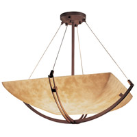 Justice Design CLD-9727-25-DBRZ-LED6-6000 Clouds LED 55 inch Dark Bronze Pendant Ceiling Light in Square Bowl, 6000 Lm LED