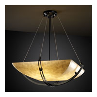 Justice Design CLD-9727-25-MBLK Clouds 8 Light 55 inch Matte Black Pendant Bowl Ceiling Light in Square Bowl photo thumbnail