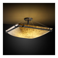 Clouds 8 Light 53 inch Matte Black Semi-Flush Bowl Ceiling Light