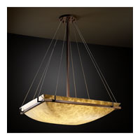 Justice Design CLD-9797-25-DBRZ Clouds 8 Light 53 inch Dark Bronze Pendant Bowl Ceiling Light photo thumbnail