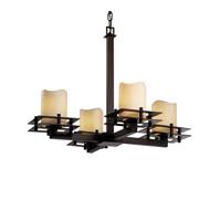 Justice Design CNDL-8100-14-CREM-DBRZ-LED4-2800 CandleAria LED 25 inch Dark Bronze Chandelier Ceiling Light Metropolis