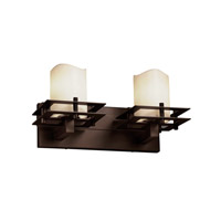 Justice Design Metropolis 2 Light Vanity Light in Dark Bronze CNDL-8172-14-CREM-DBRZ
