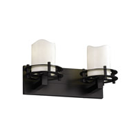 Justice Design CandleAria 2 Light Bath Light in Matte Black CNDL-8272-14-CREM-MBLK
