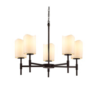 Justice Design Group CandleAria LED Chandelier in Matte Black CNDL-8410-14-CREM-MBLK-LED5-3500