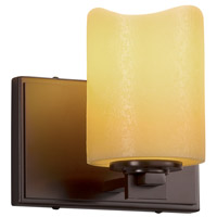 Justice Design CNDL-8441-14-AMBR-DBRZ CandleAria 1 Light 7 inch Wall Sconce Wall Light