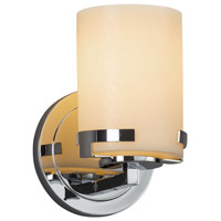 Justice Design CNDL-8451-10-CREM-CROM CandleAria 1 Light 5 inch Wall Sconce Wall Light