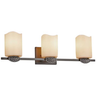 Justice Design CNDL-8493-14-AMBR-DBRZ CandleAria Malleo 3 Light 24 inch Dark Bronze Bath Bar Wall Light