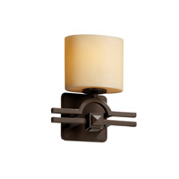 Argyle 1 Light 9 inch Dark Bronze ADA Wall Sconce Wall Light in Cream (CandleAria)
