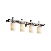 Justice Design CNDL-8564-10-CREM-NCKL CandleAria 4 Light 35 inch Brushed Nickel Bath Bar Wall Light in Cylinder with Flat Rim, Cream (CandleAria) photo thumbnail