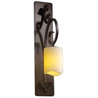Justice Design CNDL-8579-14-CREM-DBRZ-LED1-700 CandleAria LED 5 inch Dark Bronze Wall Sconce Wall Light Cylinder w/ Melted Rim