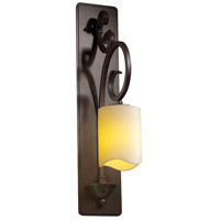 Justice Design CNDL-8579-14-CREM-DBRZ CandleAria 1 Light 5 inch Dark Bronze Wall Sconce Wall Light in Cream (CandleAria) Cylinder with Melted Rim