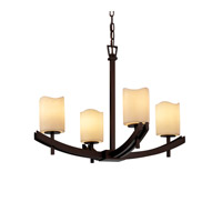 Justice Design Archway 4 Light Chandelier in Dark Bronze CNDL-8590-14-CREM-DBRZ