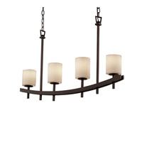 Justice Design Archway 4 Light Chandelier in Dark Bronze CNDL-8595-10-CREM-DBRZ