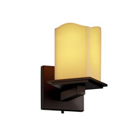 Justice Design CandleAria Montana 1-Light Wall Sconce (Angled Bobeche) in Dark Bronze CNDL-8661-19-AMBR-DBRZ