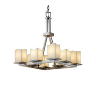 Justice Design CandleAria Montana 8-Light Ring Chandelier in Brushed Nickel CNDL-8666-19-CREM-NCKL
