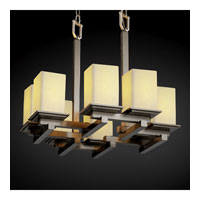 Justice Design CandleAria Montana 8-Light Zig-Zag Chandelier in Brushed Nickel CNDL-8670-15-CREM-NCKL