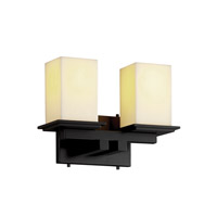 Justice Design CandleAria Montana 2-Light Bath Bar in Matte Black CNDL-8672-15-CREM-MBLK