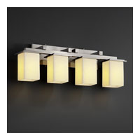 Justice Design CNDL-8674-15-CREM-NCKL CandleAria 4 Light 29 inch Brushed Nickel Bath Bar Wall Light in Square with Flat Rim, Cream (CandleAria) photo thumbnail