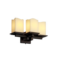 Justice Design CandleAria Montana 3-Light Wall Sconce in Dark Bronze CNDL-8676-19-CREM-DBRZ photo thumbnail