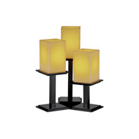 Justice Design CandleAria Montana 3-Light Table Lamp in Matte Black CNDL-8697-15-AMBR-MBLK