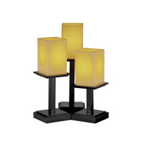 Justice Design CandleAria Montana 3-Light Table Lamp in Matte Black CNDL-8697-19-AMBR-MBLK