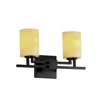 Justice Design CNDL-8702-10-AMBR-MBLK-LED2-1400 CandleAria LED 16 inch Matte Black Bath Bar Wall Light Aero