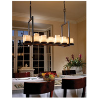 CandleAria LED 42 inch Dark Bronze Chandelier Ceiling Light