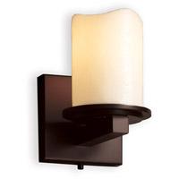 Justice Design CNDL-8771-14-CREM-DBRZ-LED1-700 CandleAria LED 5 inch Dark Bronze Wall Sconce Wall Light, Dakota