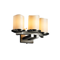 Justice Design CandleAria Dakota 3-Light Curved-Bar Wall Sconce in Brushed Nickel CNDL-8776-14-CREM-NCKL