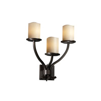 Justice Design CandleAria Sonoma 3-Light Wall Sconce in Brushed Nickel CNDL-8783-14-CREM-NCKL
