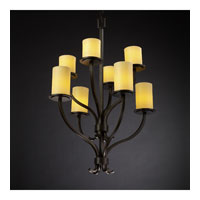 Justice Design CandleAria Sonoma 8-Light 2-Tier Chandelier in Dark Bronze CNDL-8788-10-AMBR-DBRZ