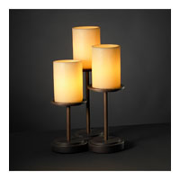 Justice Design CandleAria Dakota 3-Light Table Lamp in Dark Bronze CNDL-8797-10-AMBR-DBRZ