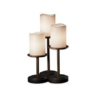 Justice Design CandleAria Dakota 3-Light Table Lamp in Dark Bronze CNDL-8797-14-CREM-DBRZ