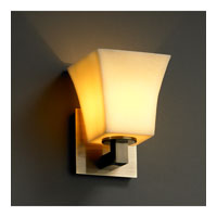 CandleAria 1 Light 6 inch Antique Brass Wall Sconce Wall Light in Square Flared, Amber (CandleAria)