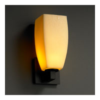 Justice Design CandleAria Modular 1-Light Wall Sconce in Matte Black CNDL-8921-65-AMBR-MBLK