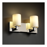 Justice Design CandleAria Modular 2-Light Bath Bar in Polished Chrome CNDL-8922-10-CREM-CROM