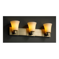 Justice Design CandleAria Modular 3-Light Bath Bar in Antique Brass CNDL-8923-20-AMBR-ABRS