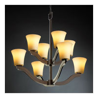 Justice Design CandleAria Bend 8-Light 2-Tier Chandelier in Dark Bronze CNDL-8978-20-AMBR-DBRZ photo thumbnail