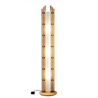 Justice Design Domus Manhattan Beech Wood Floor Lamp DOM-8000