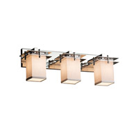 Justice Design Group Textile LED Vanity Light in Polished Chrome FAB-8173-15-WHTE-CROM-LED3-2100