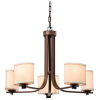 Justice Design Polished Chrome Textile Chandeliers
